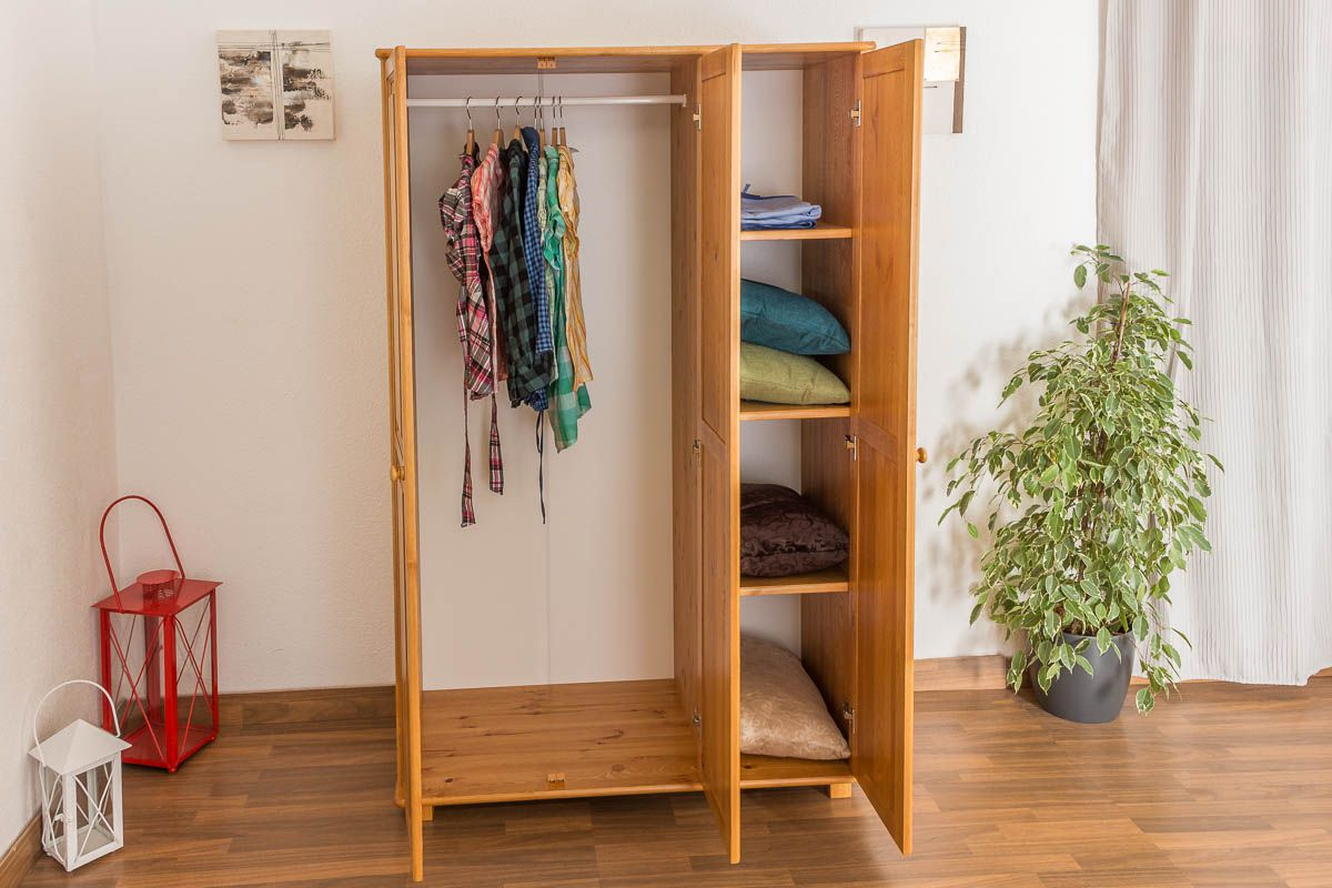 Kiefer Kleiderschrank Breite 120 cm