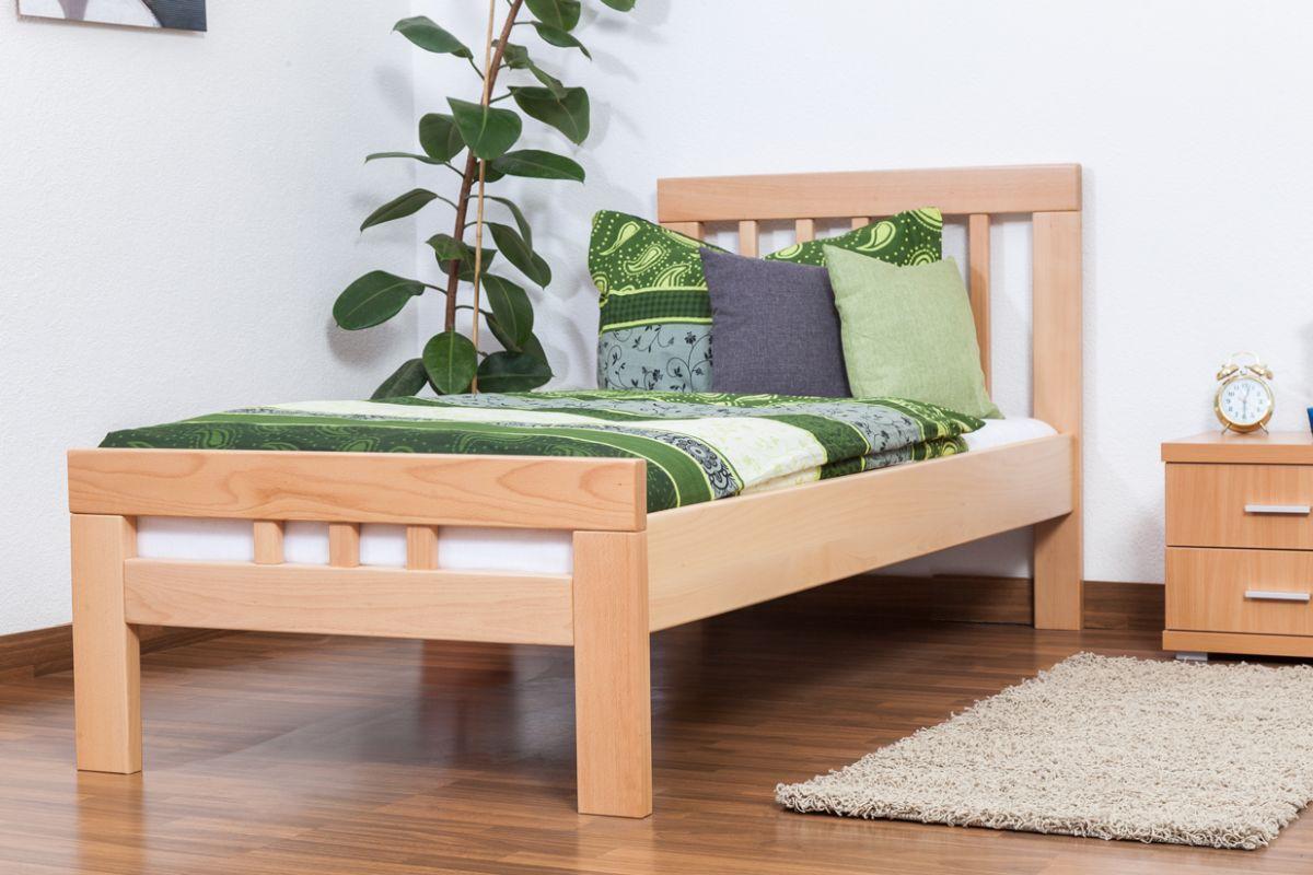 """Einzelbett """"Easy Premium Line"""" K8, Buche Vollholz massiv natur - Maße: 90 x 200 cm"""
