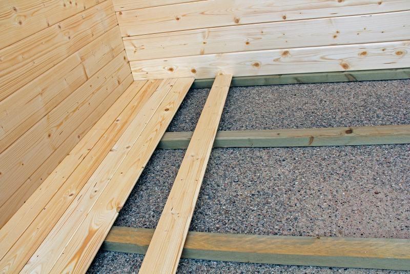 Fußboden für Gartenhaus LL16 mit Grundfläche: 17,80 m²