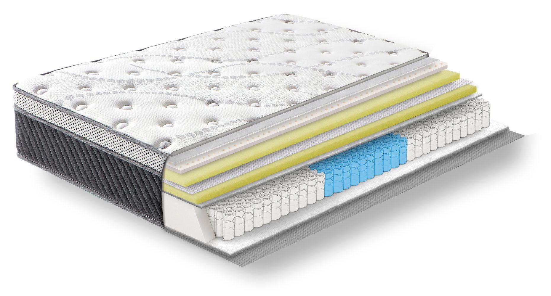 Steiner Premium Matratze Cozy mit 3-Zonen-Taschenfederkern - Größe: 140 x 200 cm, Härtegrad H4, Höhe: 25 cm