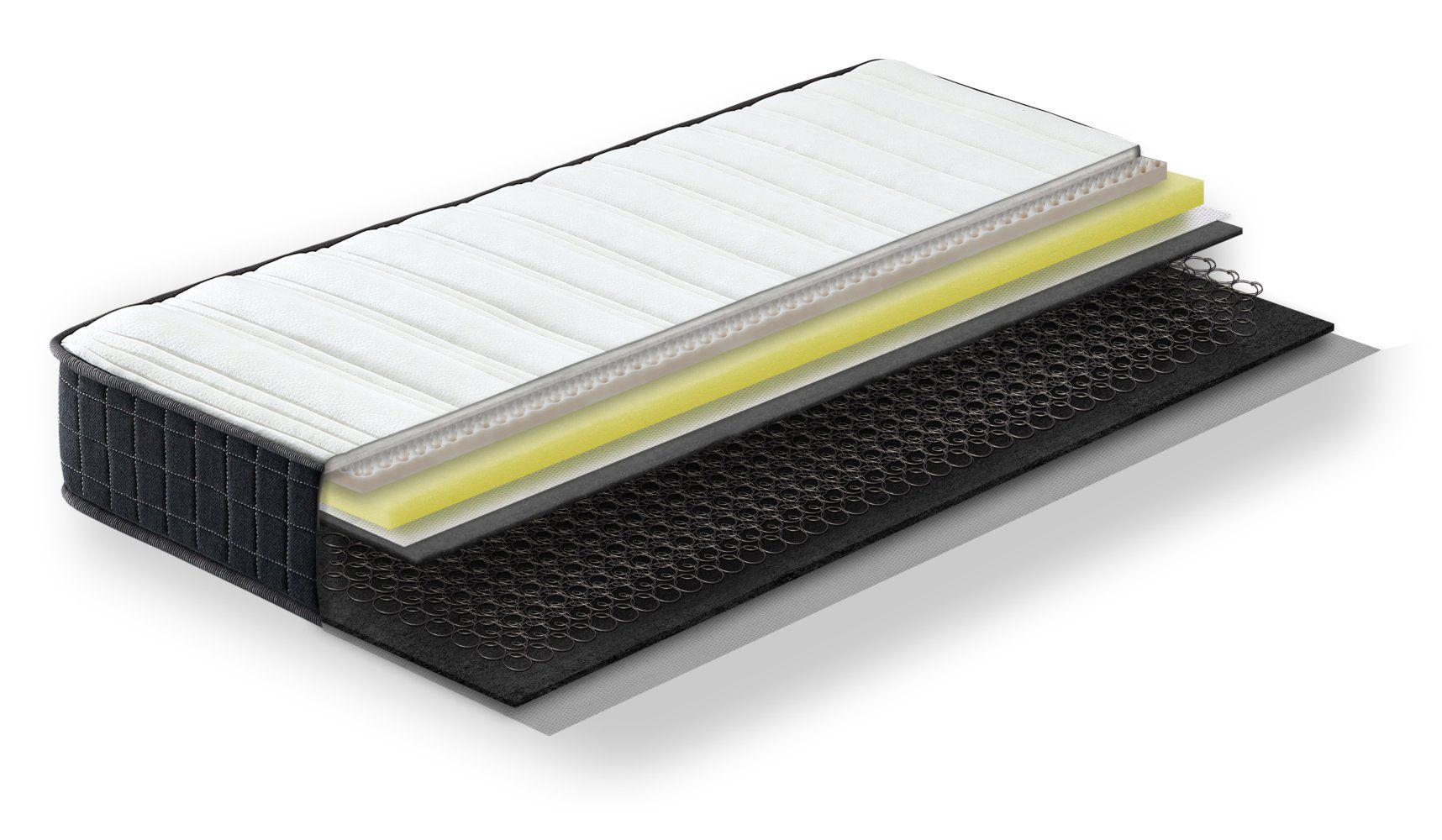 Steiner Premium Matratze Dream mit Bonellfederkern - Größe: 90 x 200 cm, Härtegrad H2-H3, Höhe: 20 cm