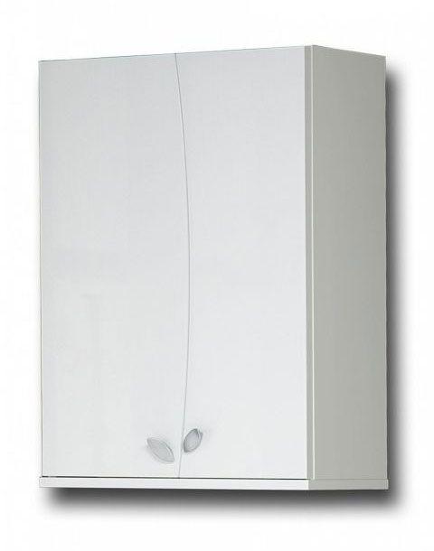 Badezimmer - Hängeschrank Rampur 05, Farbe: Weiß glänzend – 71 x 50 x 24 cm (H x B x T)