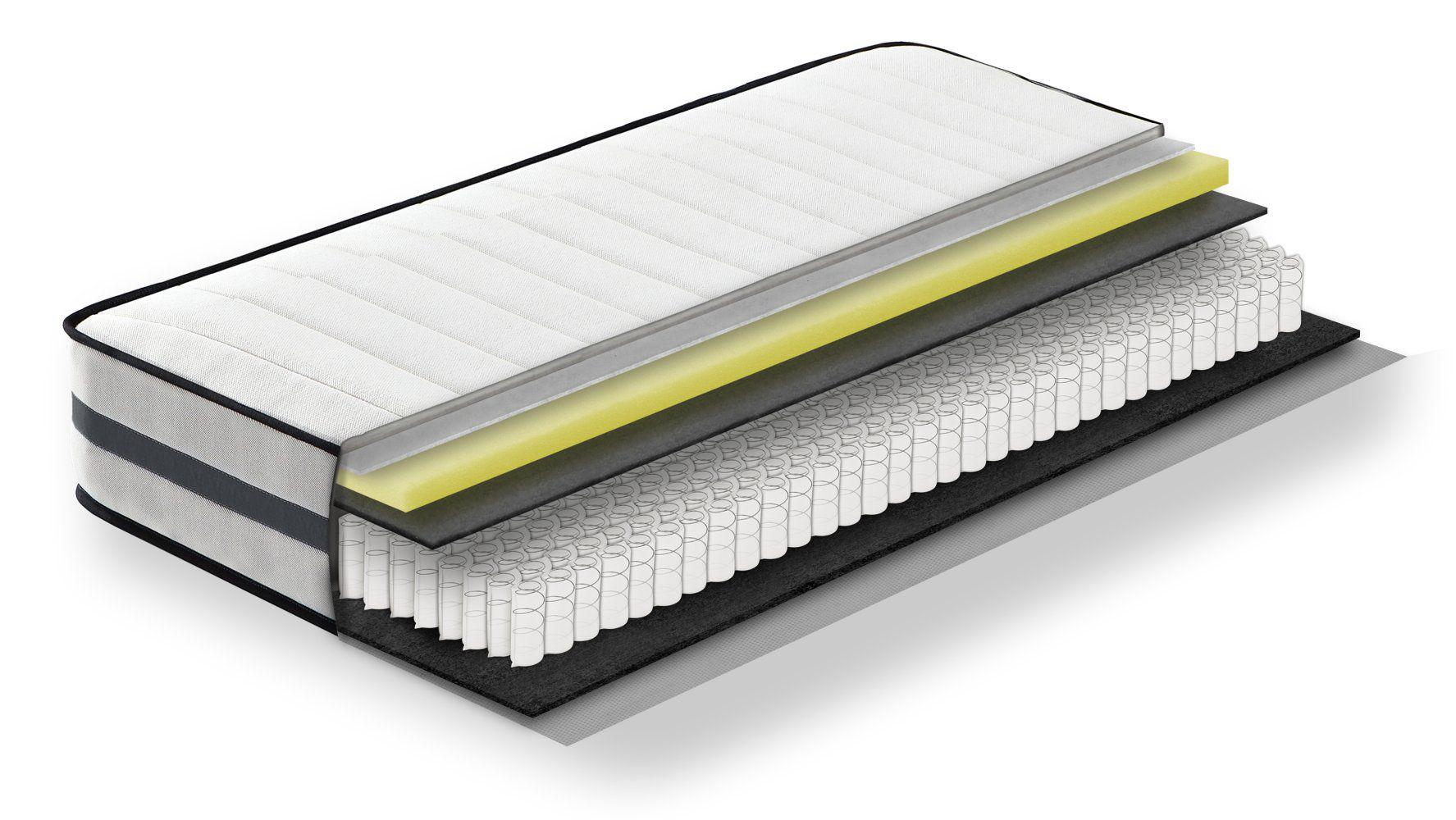 Steiner Premium Matratze Fantasy mit Taschenfederkern - Größe: 90 x 200 cm, Härtegrad H2-H3, Höhe: 22,5 cm