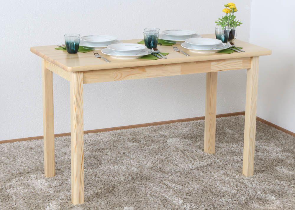 Tisch Kiefer massiv Vollholz natur Junco 227D (eckig) - 120 x 60 cm (B x T)