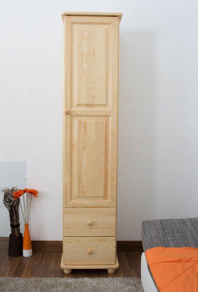 Schrank Kiefer massiv Vollholz natur Junco 36 - Abmessung 195 x 45 x 42 cm