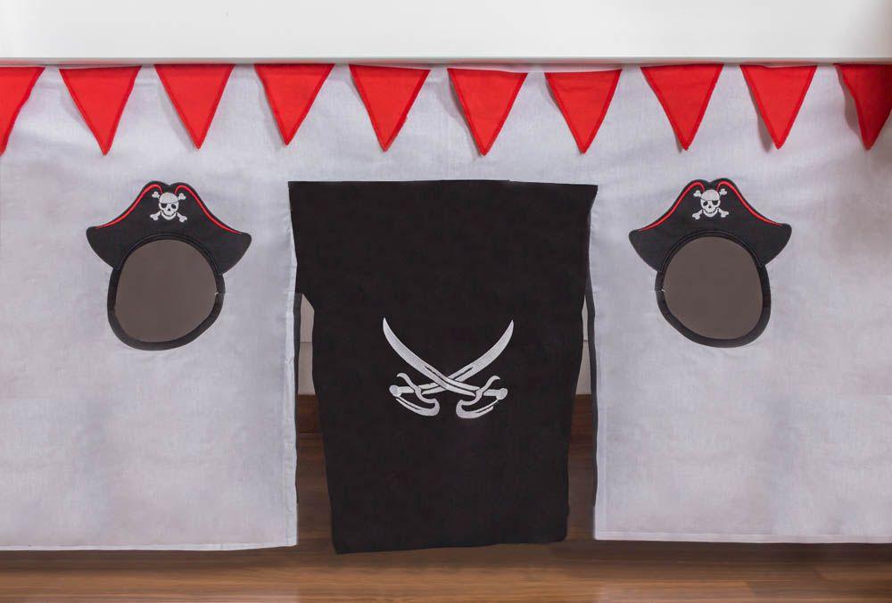 Motiv - Vorhänge Stoff-Set - Farbe: Pirat