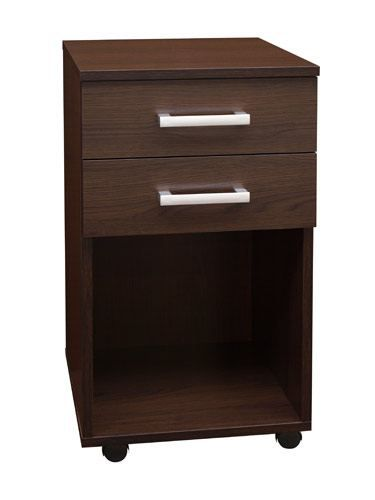 Rollcontainer Rosario 02, Farbe: Wenge - 70 x 40 x 40 cm (H x B x T)