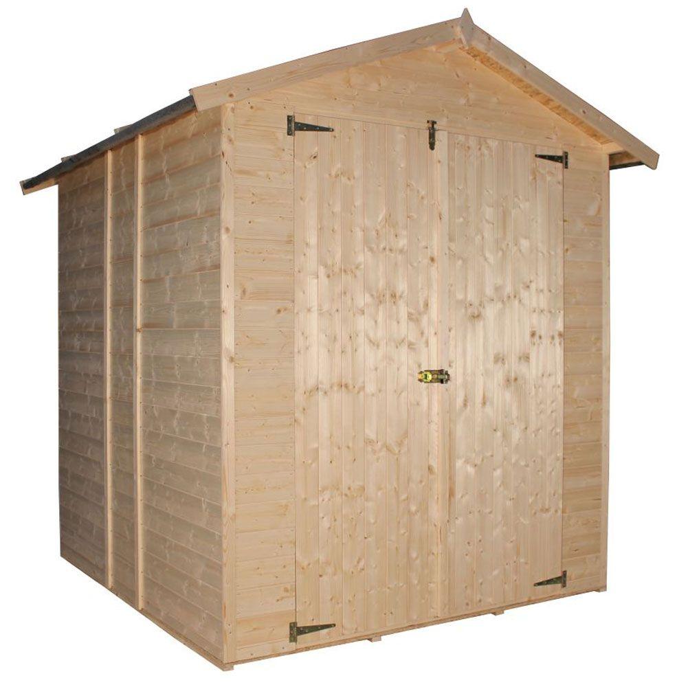 Gartenschrank / Geräteschrank - 2,06 x 2,00 Meter aus 11 mm Blockbohlen