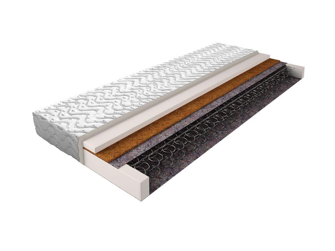 Matratze mit Bonellfederkern 013 - Größe: 140 x 200 cm, Höhe: 14 cm