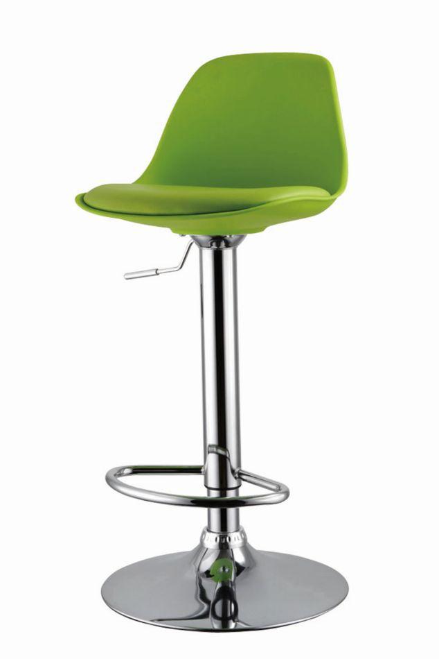 Barhocker Okola 27, Farbe: Grün - Abmessungen: 82 - 104 x 39 x 40 cm (H x B x T)