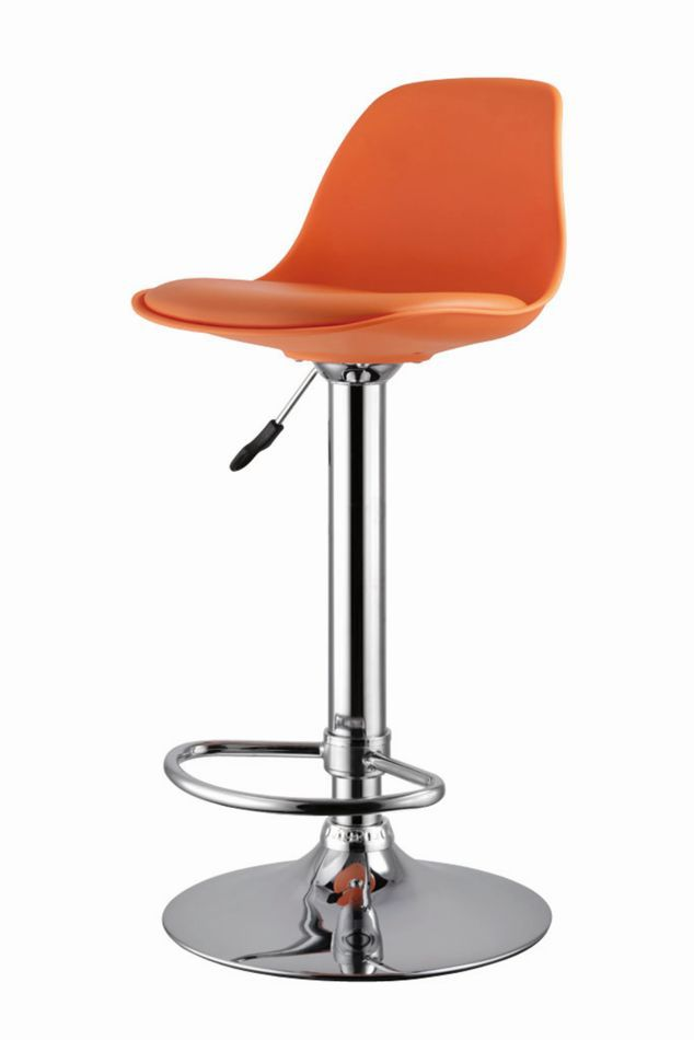 Barhocker Okola 28, Farbe: Orange - Abmessungen: 82 - 104 x 39 x 40 cm (H x B x T)