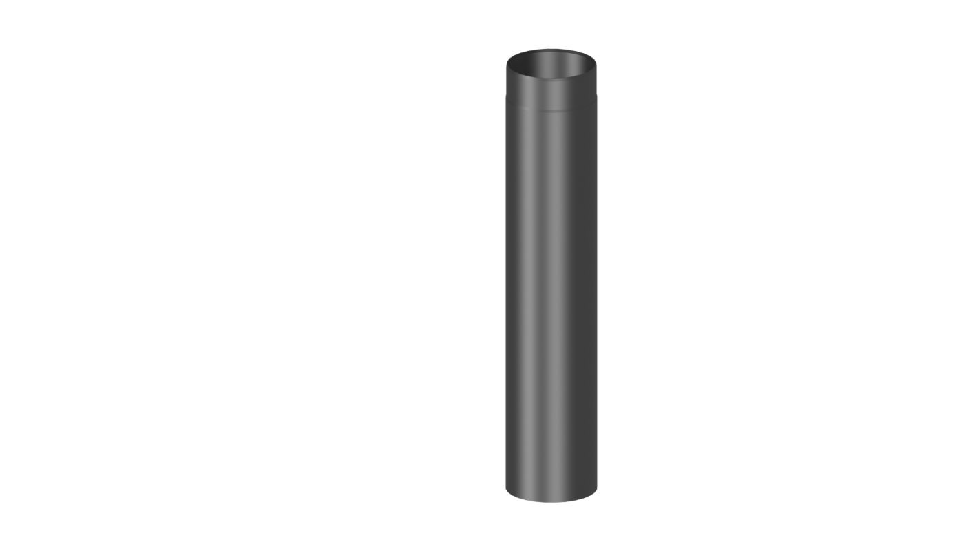 Rauchrohr Länge 1000 mm - Durchmesser: 120 mm, Farbe: Grau