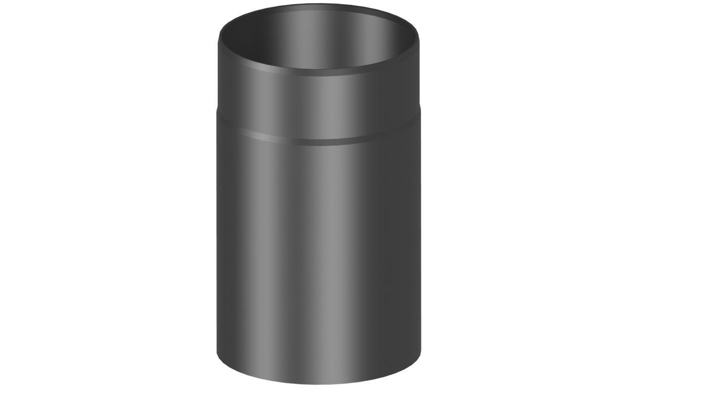 Rauchrohr 250 mm lang - Durchmesser: 120 mm, Farbe: Grau