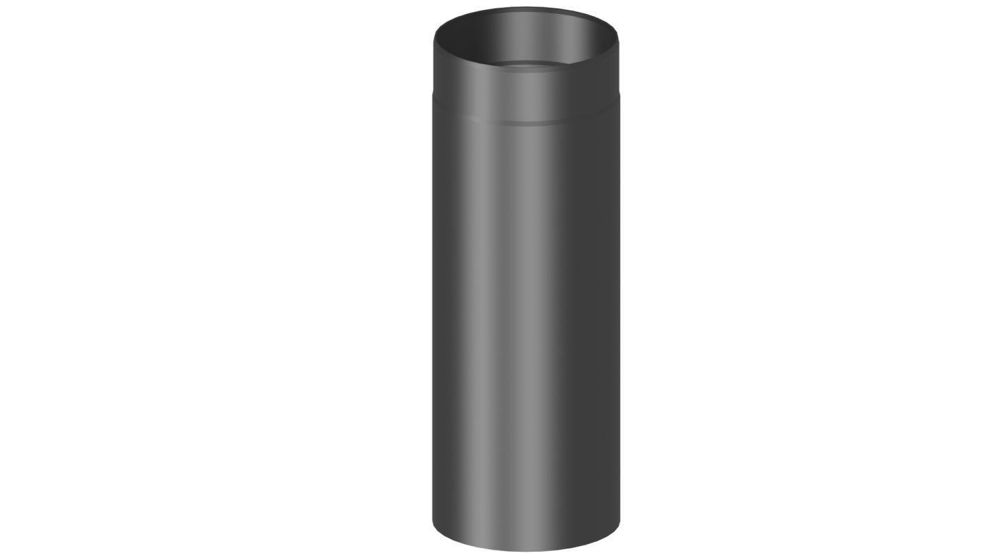 Rauchrohr  Länge 500 mm - Durchmesser: 120 mm, Farbe: Schwarz