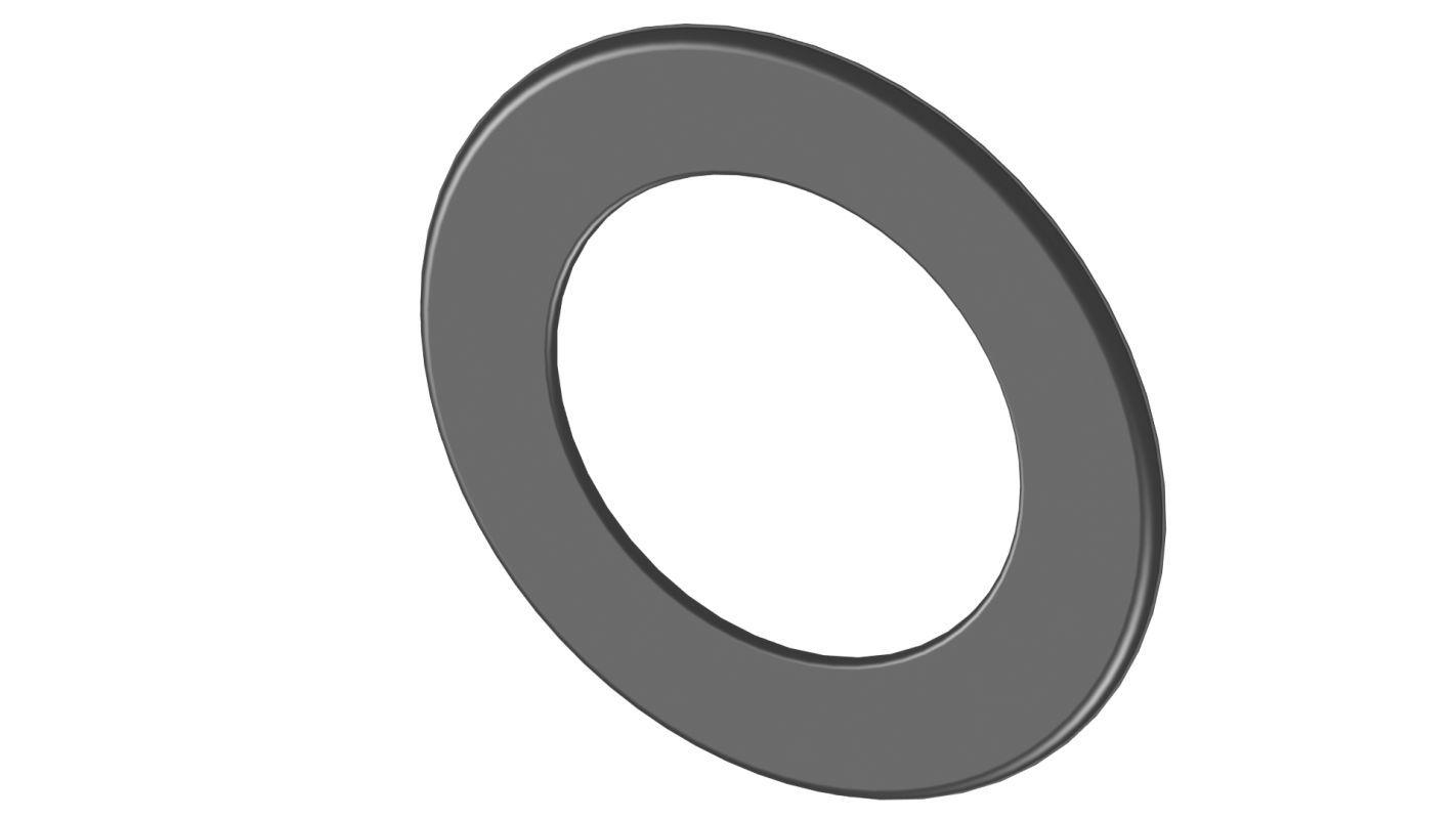 Wandrosette 50 mm Randbreite - Durchmesser: 120 mm, Farbe: Schwarz