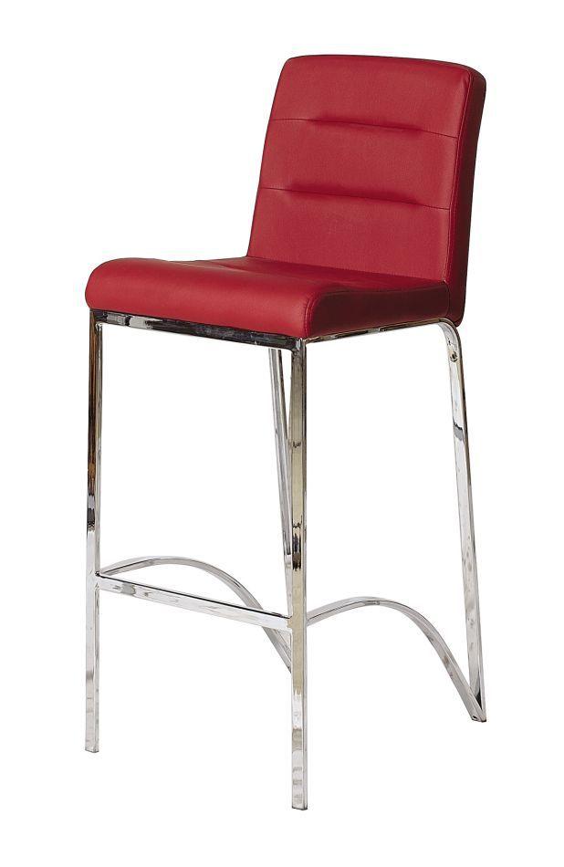 Barhocker Okola 52, Farbe: Rot - Abmessungen: 102 x 40 x 50 cm (H x B x T)