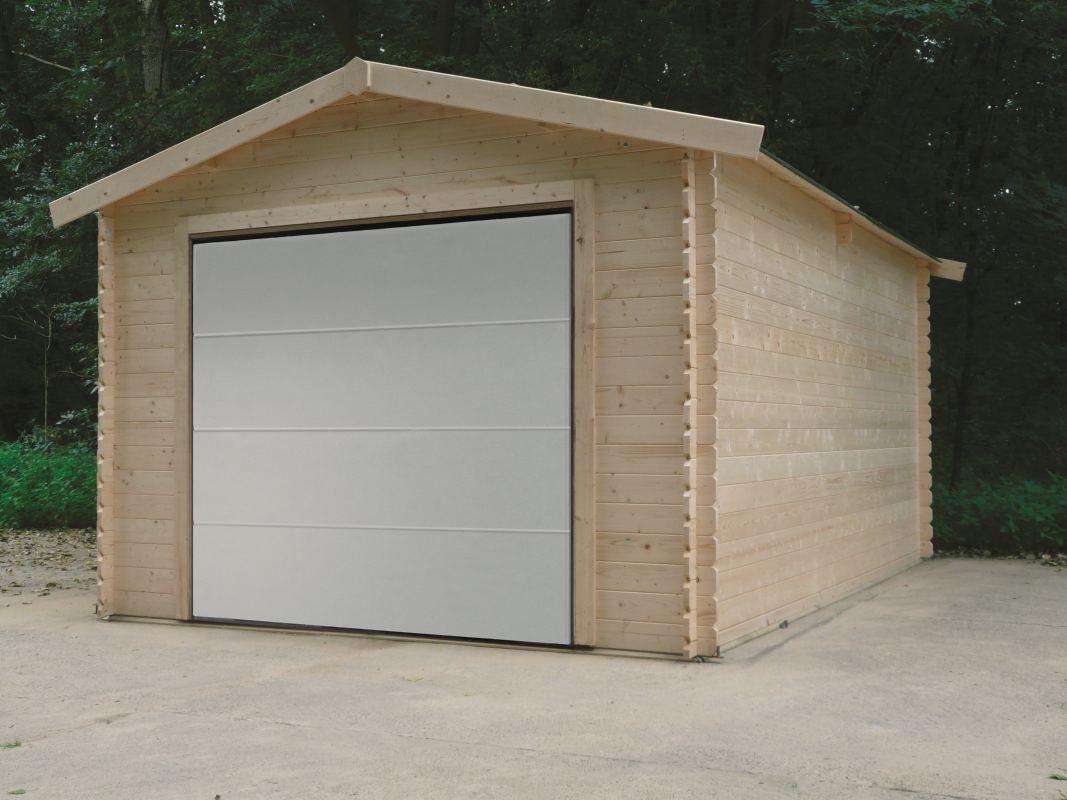Garage Primula S8330 - 28 mm Blockbohlenhaus, Grundfläche: 18,19 m², Satteldach