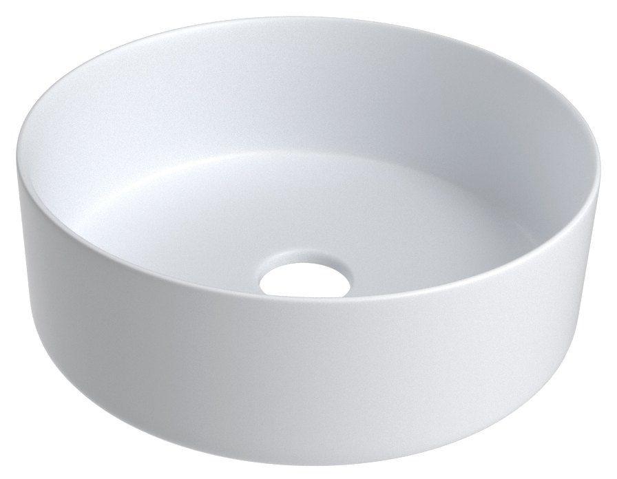Bad - Waschbecken Dhule 24, Farbe: Weiß matt – 12 x 36 x 36 cm (H x B x T)