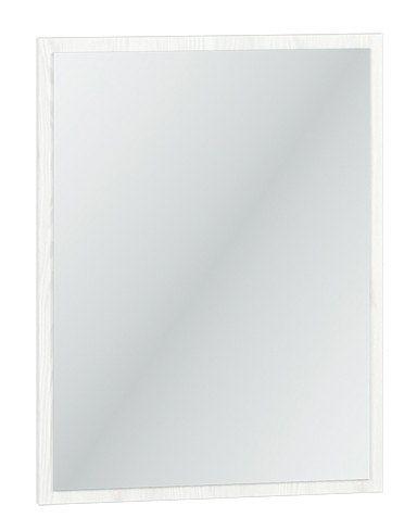 Spiegel Fjends 09, Farbe: Kiefer weiß - Abmessungen: 65 x 50 x 2 cm (H x B x T)
