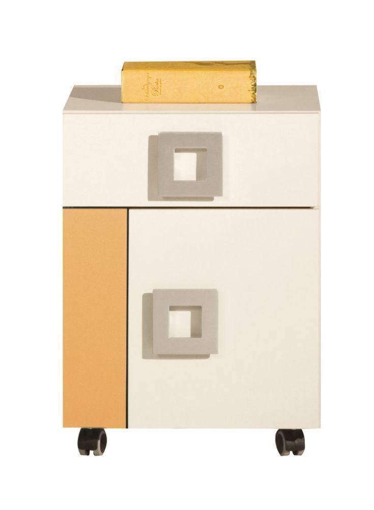 Jugendzimmer Rollcontainer Namur 20, Farbe: Orange / Beige - Abmessungen: 52 x 40 x 44 cm (H x B x T)