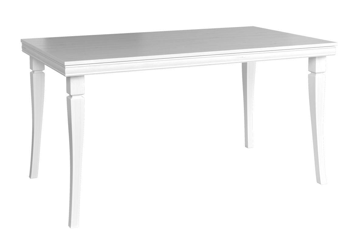 Esstisch ausziehbar Sentis 22, Farbe: Kiefer Weiß - 160 - 203 x 90 cm (B x T)