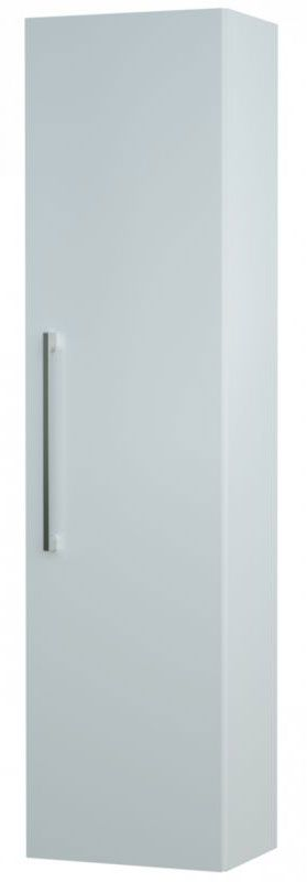 Bad - Hochschrank Bijapur 25, Farbe: Weiß glänzend – 138 x 35 x 25 cm (H x B x T)