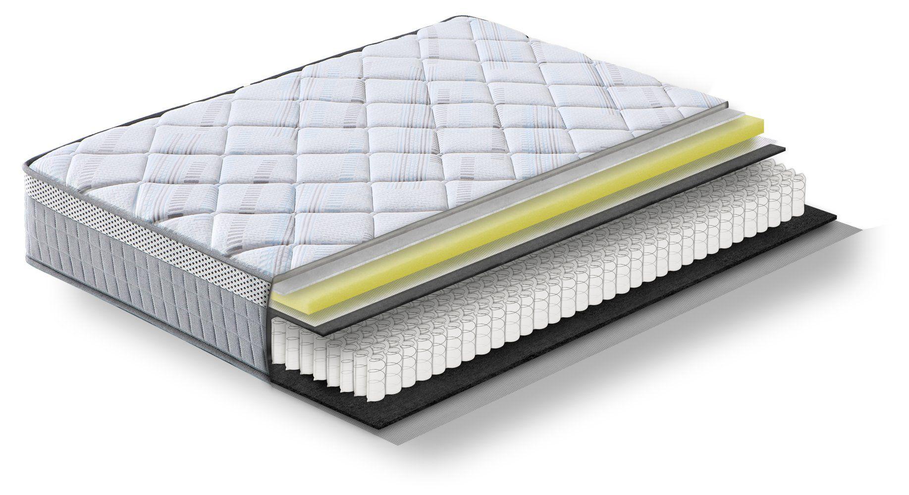 Steiner Premium Matratze Wonder mit Taschenfederkern - Größe: 140 x 200 cm, Härtegrad H3, Höhe: 25 cm