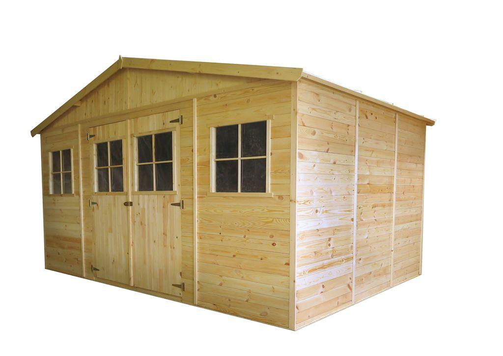 Gartenhütte Holz München - 4,14 x 3,20 Meter aus vorgefertigten Elementen