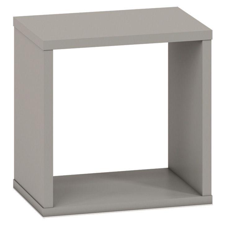 Jugendzimmer - Hängeregal / Wandregal Greeley 18, Farbe: Platingrau - Abmessungen: 30 x 30 x 20 cm (H x B x T)